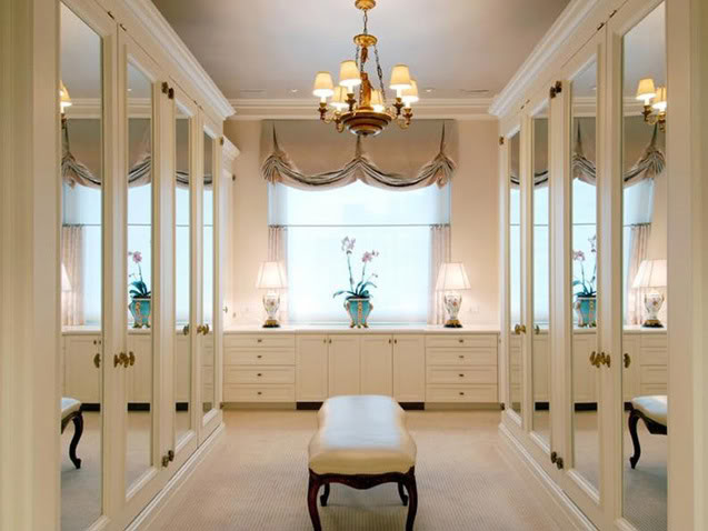 our master closet has two large windows similar to the pic above - Luxury Closets