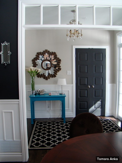Great 2. A Black Door Can Help To Complement The Other Black Colors Throughout  The Space