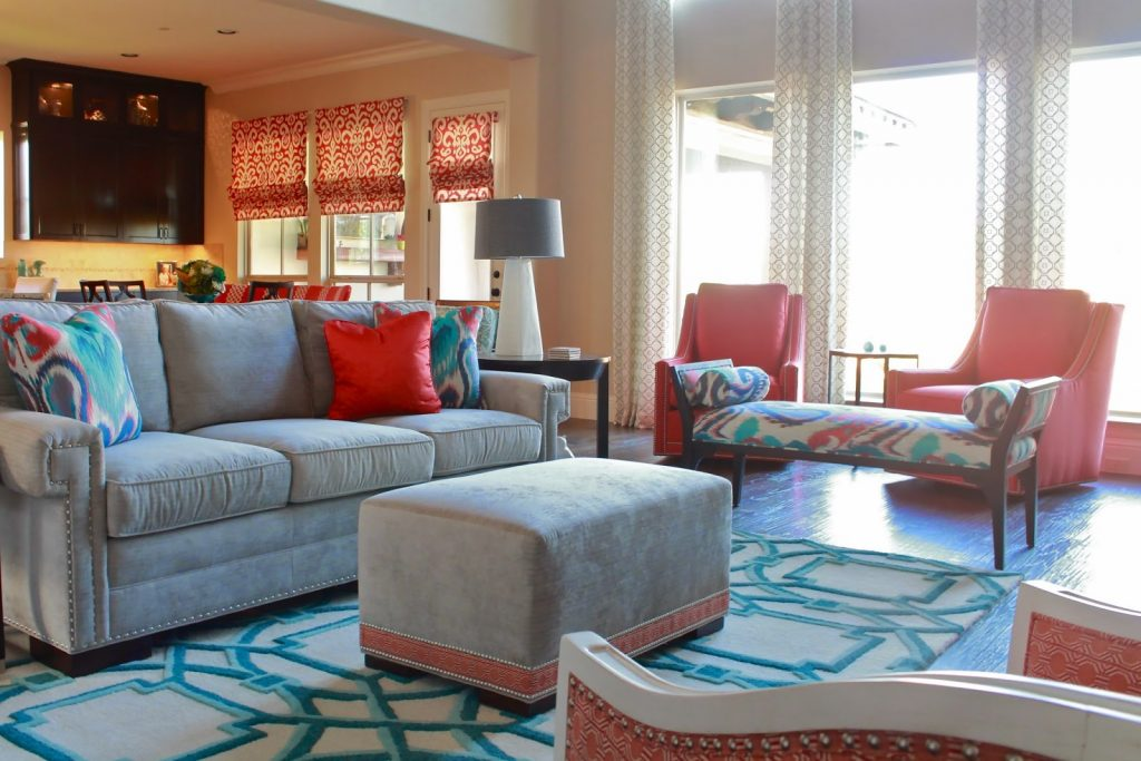 By Bringing Colors In From Separate Seating Areas In Small Doses You Can  Accomplish The Task Of Having The Room Coordinate But Still Allowing Two  Seating ...