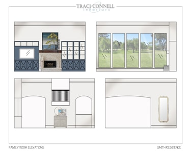 Design Delivered For A Familyroom Elevations In Dallas, Texas